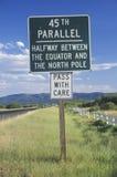 45th Paralela znak obrazy stock