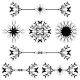 46个艺术棒分切器线路装饰规则滚动 免版税库存照片