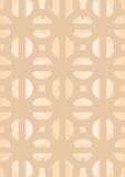 46. Tracery, free themes. Patterns in a decorative pattern on a beige background Royalty Free Illustration