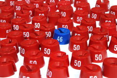46 in un ambiente delle rondelle su 50 Immagine Stock