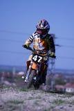 47个孩子摩托车越野赛 免版税库存照片