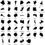 47 карт африканской страны Стоковое фото RF