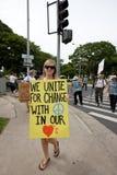 47 anty apec Honolulu zajmuje protest Zdjęcia Stock