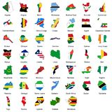 47 bandierine di paese africano Immagini Stock
