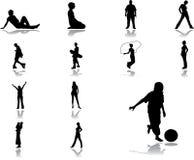 47 ikon ustalonych przez ludzi Zdjęcie Royalty Free