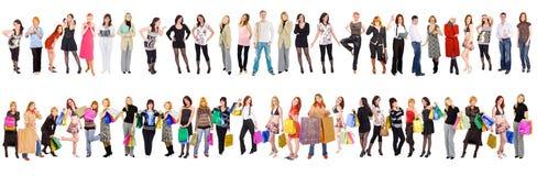 47 povos separados Fotos de Stock Royalty Free