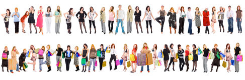 47 separate people Royalty Free Stock Photos