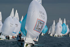 470s downwind at Rolex Miami OCR Royalty Free Stock Photo