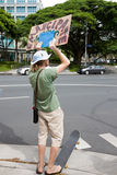 48 anti apec honolulu занимает протест Стоковая Фотография RF