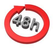 48 horas de sinal da entrega Imagens de Stock Royalty Free