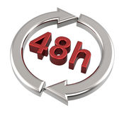 48 hours delivery sign. Computer generated 3D photo rendering Royalty Free Stock Photo