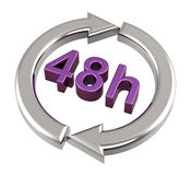 48 hours delivery sign. Stock Photo