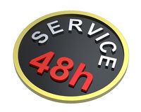 48 hours service sign Royalty Free Stock Images