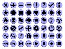48 icone solide di figura illustrazione di stock