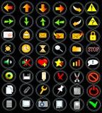 48 ikon sieci Zdjęcie Royalty Free