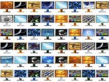 48 monitores en la talla original 500x500 cada uno libre illustration