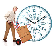 48 ours clock shipping Stock Photo