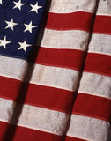 48 Star US Flag - VOA1-004. 48 Star US Folded Flag with fabric and stitching seen Stock Image