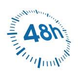 48 Stunden Anlieferung lizenzfreie abbildung