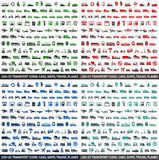 480 Transport icons Royalty Free Stock Photography