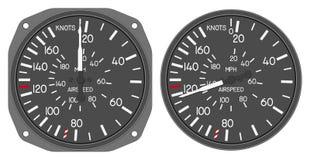 480b 5航空器被设置的控制板指示符 库存照片