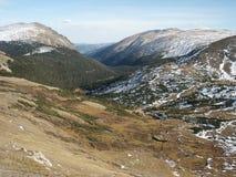 4861座高山山pict寒带草原 库存照片