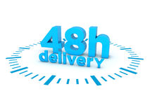 48h delivery Royalty Free Stock Images