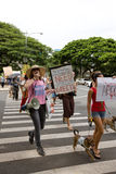 49 upptar anti apec honolulu protest Royaltyfri Foto