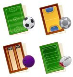 49a elementów projektu ustalonymi sportfields ikony ilustracji