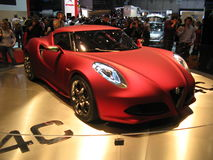 4C. Prototype of the new Alfa Romeo's sport coupe'. Presente at the 2011 Geneva Autoexpo this car is, in the intentions of FIAT group a return to the origins of Royalty Free Stock Photo