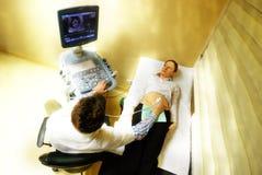 4d超音波怀孕的扫描 库存照片
