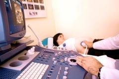 4d超音波的扫描 免版税库存图片