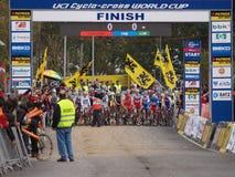 4de ronde van de Kop van de Wereld Cyclocross van 2011-2012 Royalty-vrije Stock Foto's