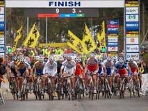 4de ronde van de Kop van de Wereld Cyclocross van 2011-2012 Royalty-vrije Stock Fotografie