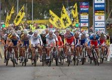 4de ronde van de Kop van de Wereld Cyclocross van 2011-2012 Stock Afbeeldingen