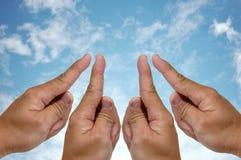 4finger framgång för nummer en Royaltyfria Bilder