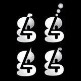 4g εικονίδιο λογότυπων Στοκ Φωτογραφία