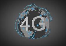 4g παγκόσμιο δίκτυο Στοκ εικόνα με δικαίωμα ελεύθερης χρήσης