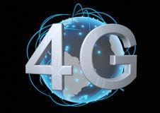 4g παγκόσμιο δίκτυο Στοκ Εικόνες