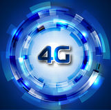 4g. Smart phone display wifi wireless Royalty Free Stock Image