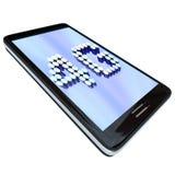 4G - Brieven op Slimme Telefoon Stock Afbeelding