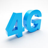 4G broadband. 4G wireless communication standard 3d illustration on white background Royalty Free Stock Image