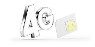 4G de kaart van SIM Stock Foto's
