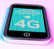 4g Internet Connection On Mobile Phone. 4g Internet Connection On Mobile Smartphone Royalty Free Stock Photo