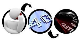 4G - La persona en el teléfono elegante ayuna las comunicaciones Imagenes de archivo