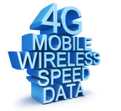 4G latest wireless communication. Technology standard 3d illustration Stock Photos