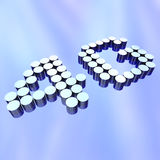 4G - Letters on Abstract Background. The letters 4G representing the new standard in wireless communication Royalty Free Stock Photos