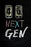 4G, Mobile des folgenden Erzeugung Stockbild