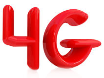4g modern internet network. On a white background Royalty Free Stock Photography
