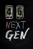 4G nästa generationmobil Fotografering för Bildbyråer